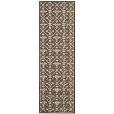 Safavieh Courtyard Collection Kennard Oriental Indoor/Outdoor Runner Rug