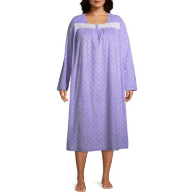 Adonna Microfleece Long Sleeve Nightgown-Plus