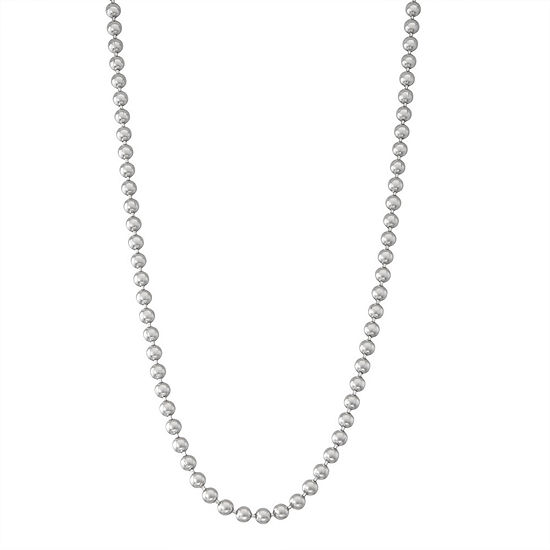 Sterling Silver 20 Inch Solid Bead Chain Necklace