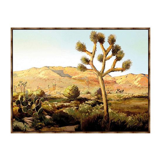 Desert Wilderness Framed Canvas Art