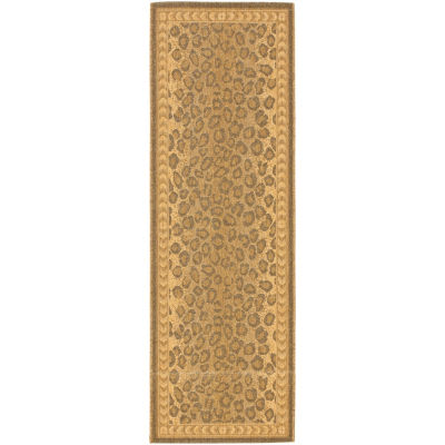 Safavieh Courtyard Collection Daithi Animal Indoor/Outdoor Runner Rug