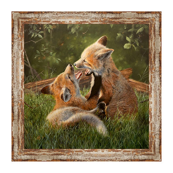 Play Date Framed Canvas Art