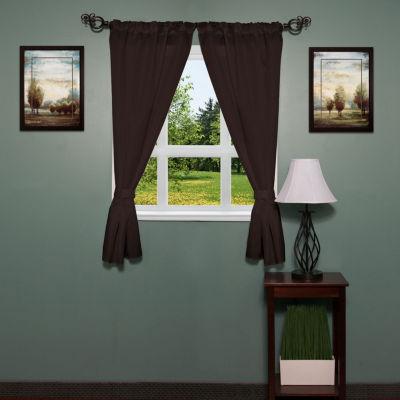 Lauren Diamond Pattern Fabric Bathroom Window Curtain with Tiebacks