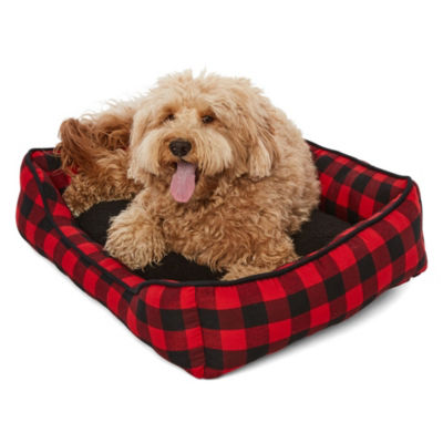 North Pole Trading Company Plaid Pet Bed