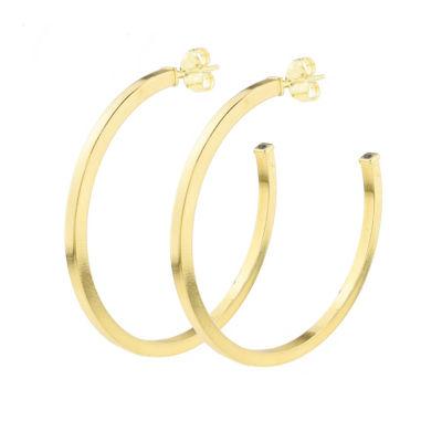 Sechic 14K Gold 40mm Hoop Earrings