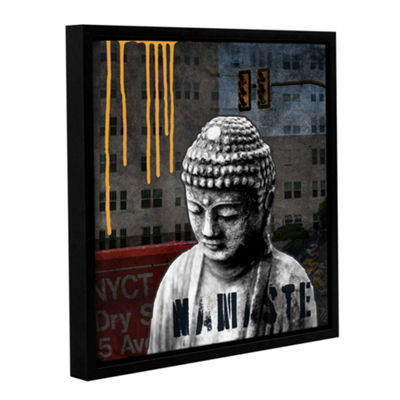 Urban Buddha III Floater-Framed Gallery Wrapped Canvas