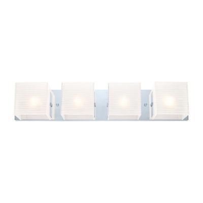 "Eglo Alea I 4-Light 26"" Chrome Vanity Light Wall Light"