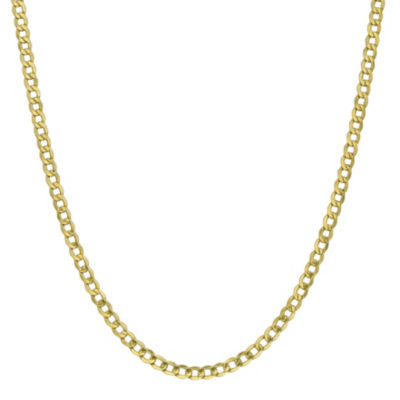 10K Gold Semisolid Curb 16 Inch Chain Necklace