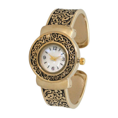 Olivia Pratt Womens Gold Tone Strap Watch-A915887gold