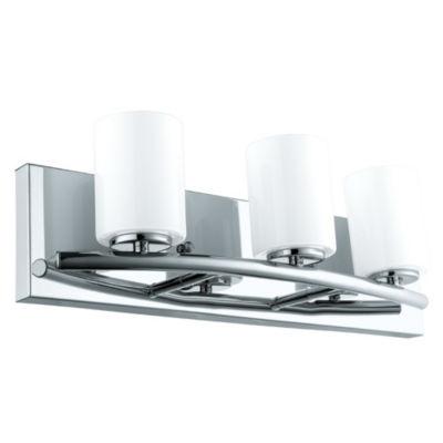 """Eglo Abete 3-Light 18"""" Chrome Vanity Light Wall Light"""""""