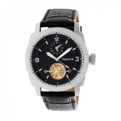 Heritor Helmsley Mens Black Strap Watch-Herhr5006