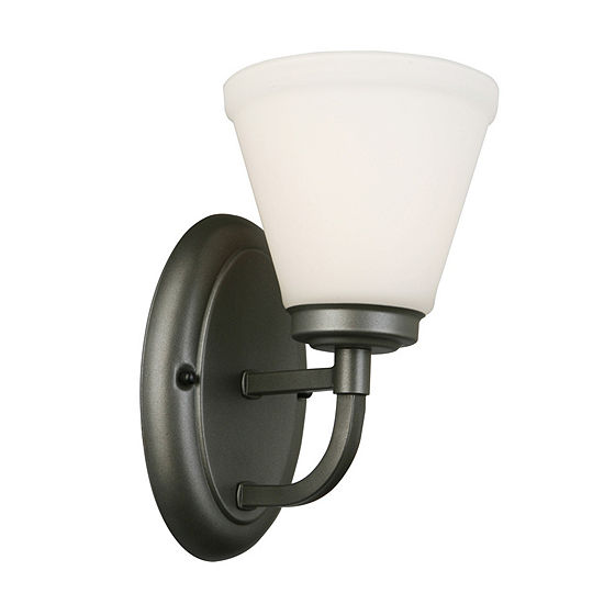 """Eglo Mayview 1-Light 7"""" Armed Wall Sconce Wall Light"""