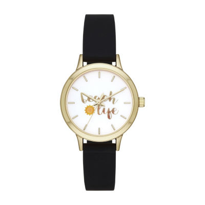 Womens Black Strap Watch-Fmdbp001d