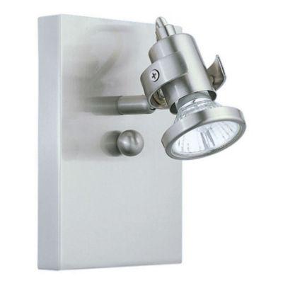 """Eglo Tukon 1-Light 5"""" Matte Nickel Spot Wall Light"""
