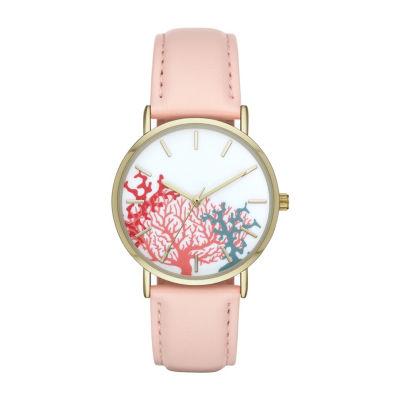 Womens Pink Strap Watch-Fmdbp001b
