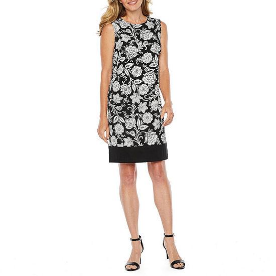 Alyx Sleeveless Floral Midi Sheath Dress