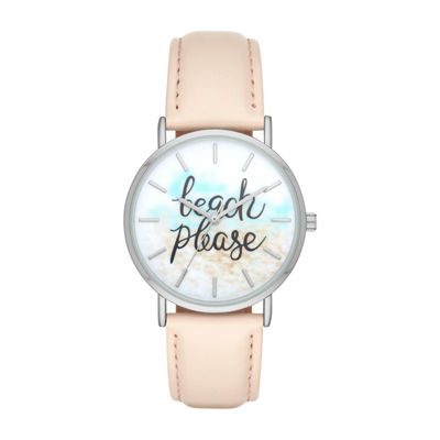 """Beach Please"" Womens Pink Strap Watch-Fmdbp001c"