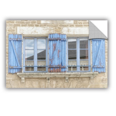 Brushstone Blue Shutters Removable Wall Decal