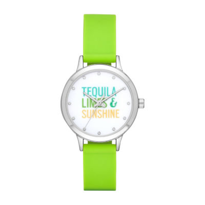 Womens Green Strap Watch-Fmdbp001f