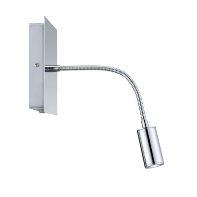 "Eglo Lire LED 5"" Chrome Sconce Wall Light"