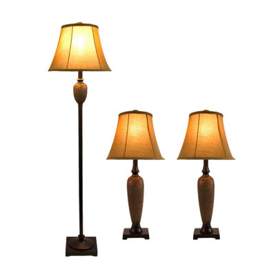 Elegant Designs 3-pc. Lamp Set