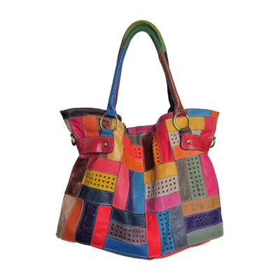 Amerileather Rainbow Mazy Tote Bag