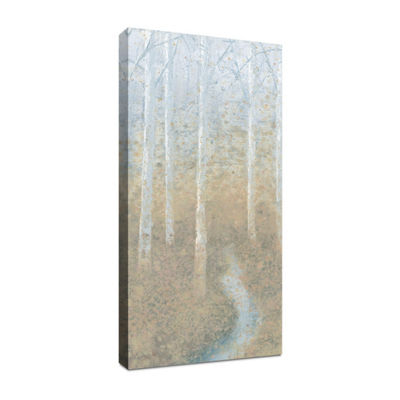 Silver Waters Panel II Canvas Art
