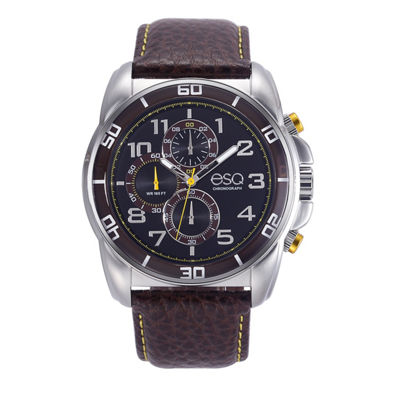 Esq Mens Brown Strap Watch-37esq021101a