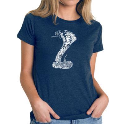 Los Angeles Pop Art Women's Premium Blend Word ArtT-shirt - Tyles of Snakes