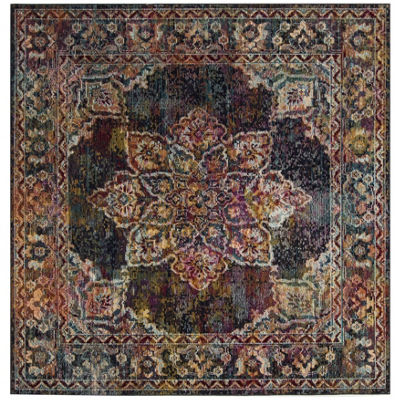 Safavieh Crystal Collection Gaman Oriental Square Area Rug