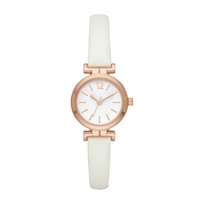 Womens White Strap Watch-Fmdcp001d