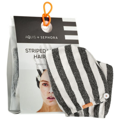 Aquis Aquis + Sephora Striped Lisse Luxe Hair Turban