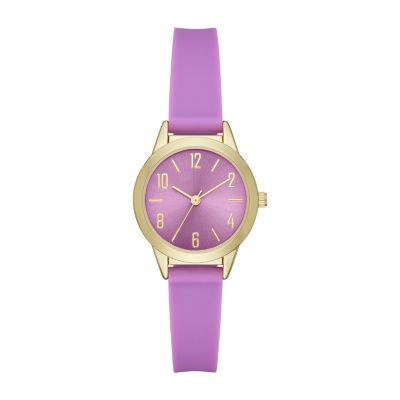 Womens Purple Strap Watch-Fmdcp001g