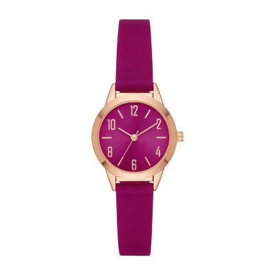 Womens Purple Strap Watch-Fmdcp001h