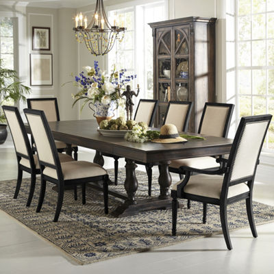 Montserrat Rectangular Wood-Top Dining Table