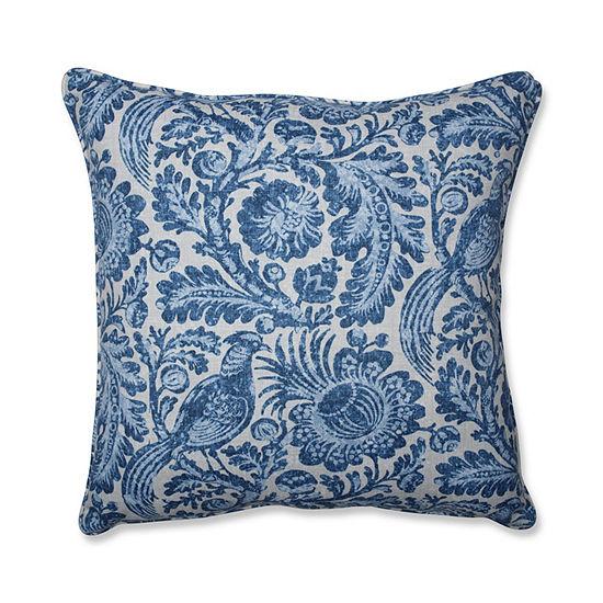 Pillow Perfect Tucker Resist Azure 25-Inch Outdoor Floor Pillow