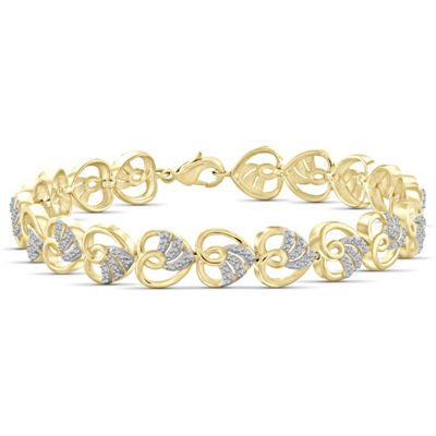 14K Gold Over Brass 7.5 Inch Solid Round Link Bracelet