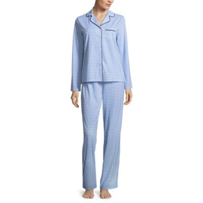 Adonna Knit Notch Collar Pant Pajama Set