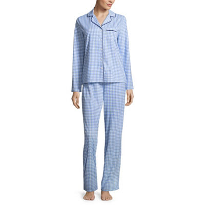 Adonna Knit Notch Collar Pant Pajama Set- Tall