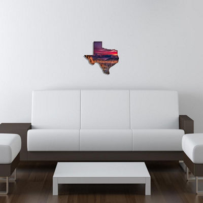 Metal Wall Art Purple Texas Sunset