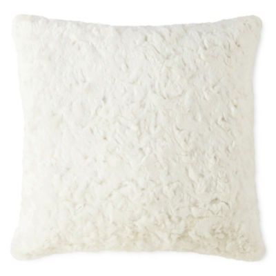 Peyton & Parker Faux Fur Square Throw Pillow