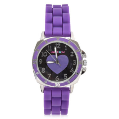 Limited Too Girls Purple Strap Watch-Lmt90036jc
