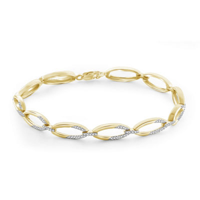 14K Gold Over Brass 7.25 Inch Solid Round Link Bracelet