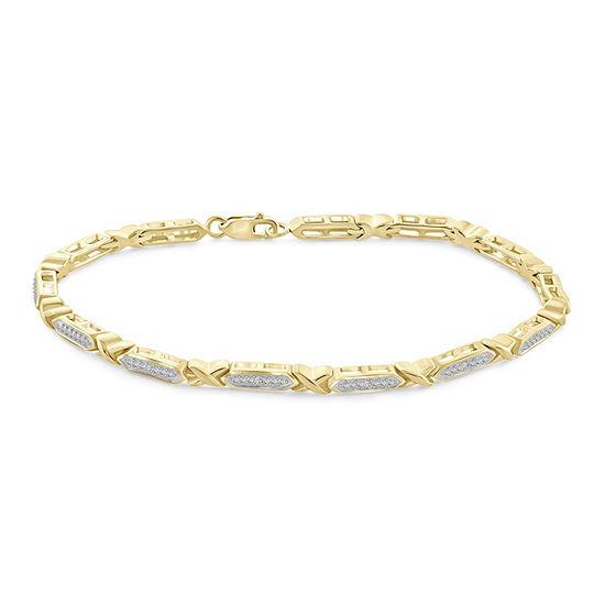 14k Gold Over Brass 8 Inch Solid Round Link Bracelet