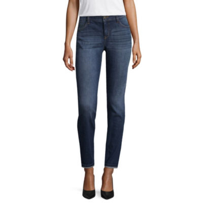 Liz Claiborne Flexi Fit Roll Cuff Tapered Jeans