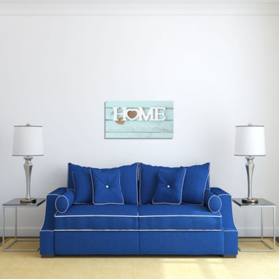 Motivational Wall Art Home is Where the Heart Is Wall Decor Panel