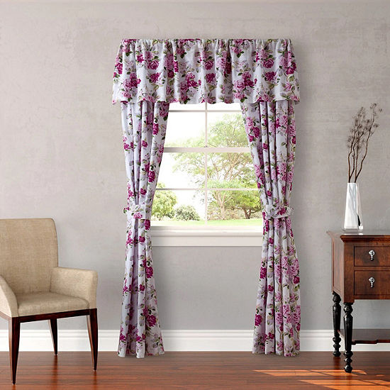 Laura Ashley Lidia 2-Pack Rod-Pocket Curtain Panels