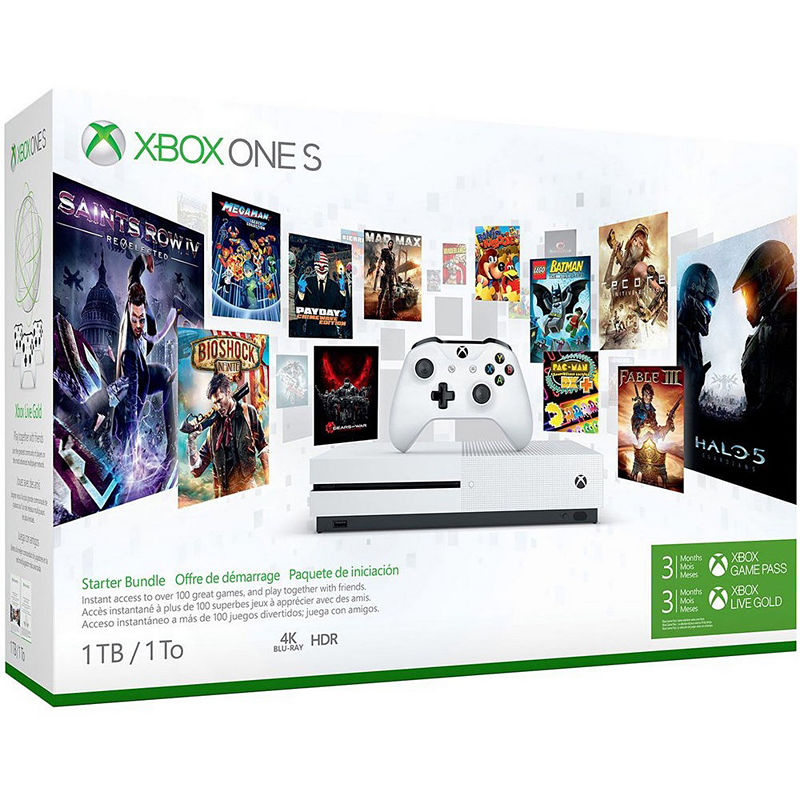 Microsoft Xbox One S 1TB Console Starter Bundle with 4K Ultra Blu-ray