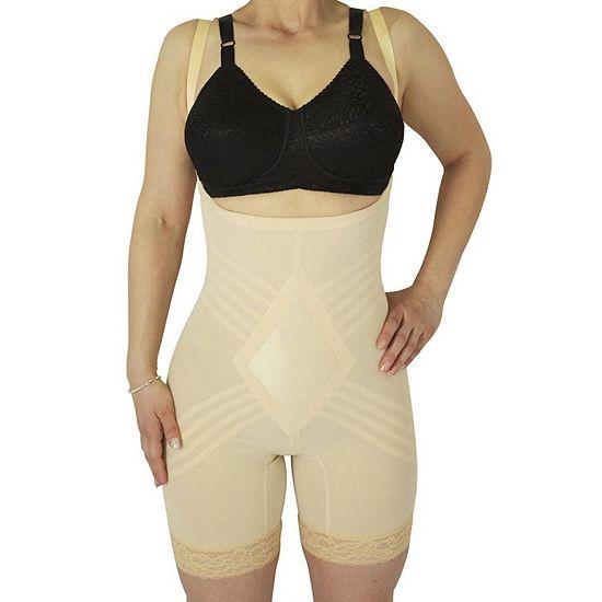 Rago Wear Your Own Bra Satin Panel Stretch-Lace Singlet Firm Control Body Shaper - 9070