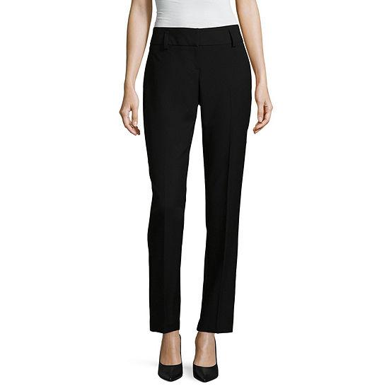 Worthington Womens Modern Fit Straight Trouser